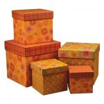 Square Paper Gift Boxes with Lids