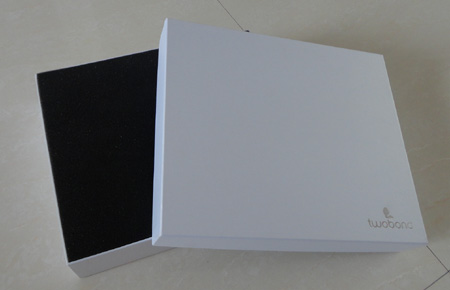 white gift box with lid