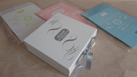 Foldable baby keepsake boxes with ribbon