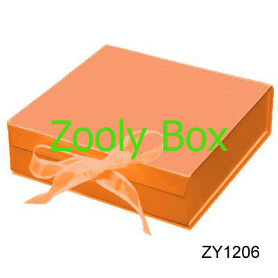 Orange Folding Box with Ribbon