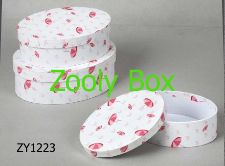 Round Paper Box with Lid