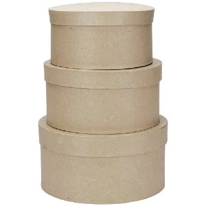 Round Paper Mache Boxes - Zooly Box