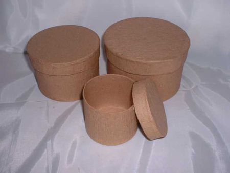 Kraft Round Nesting Paper Mache Boxes & Round Paper Mache Boxes - Zooly Box Aboutintivar.Com