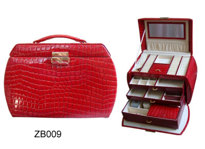 Red Leather Cosmetic Boxes