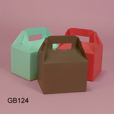 Card Paper Lunch Box with Handle