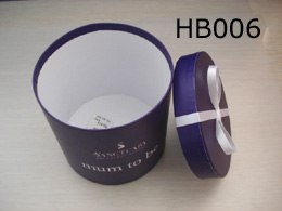 Purple Paper Box with Lid