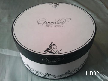 Black Printed Hat Box