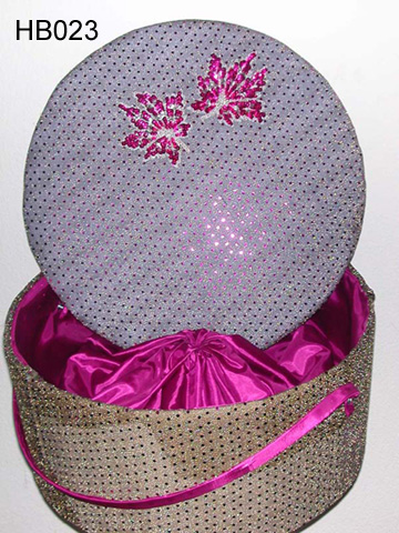 Decorative Fabric Hat Boxes