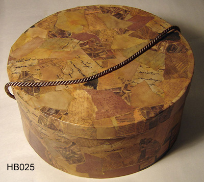 Printed Rigid Cardboard Hat Box with Lid