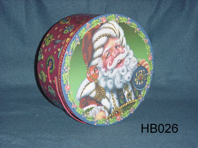 Decorative Christmas Hat Box