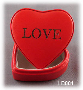 Heart-shaped Leather Jewlery Box