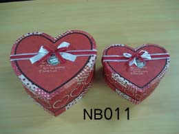 Nested Gift Boxes , heart-shaped
