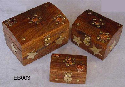 Lockable Wooden Boxes