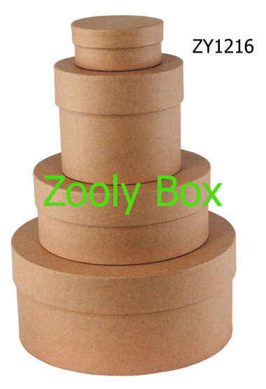 Recycled Kraft Round Gift Boxes Zooly Box